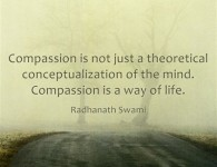 Radhanath Swami gives an in-depth understanding of compassion