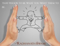 Radhanath Swami's quote on Material world
