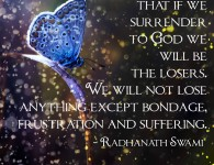 Radhanath Swami on Surrender to God