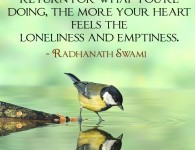 Radhanath Swami on expecting in return