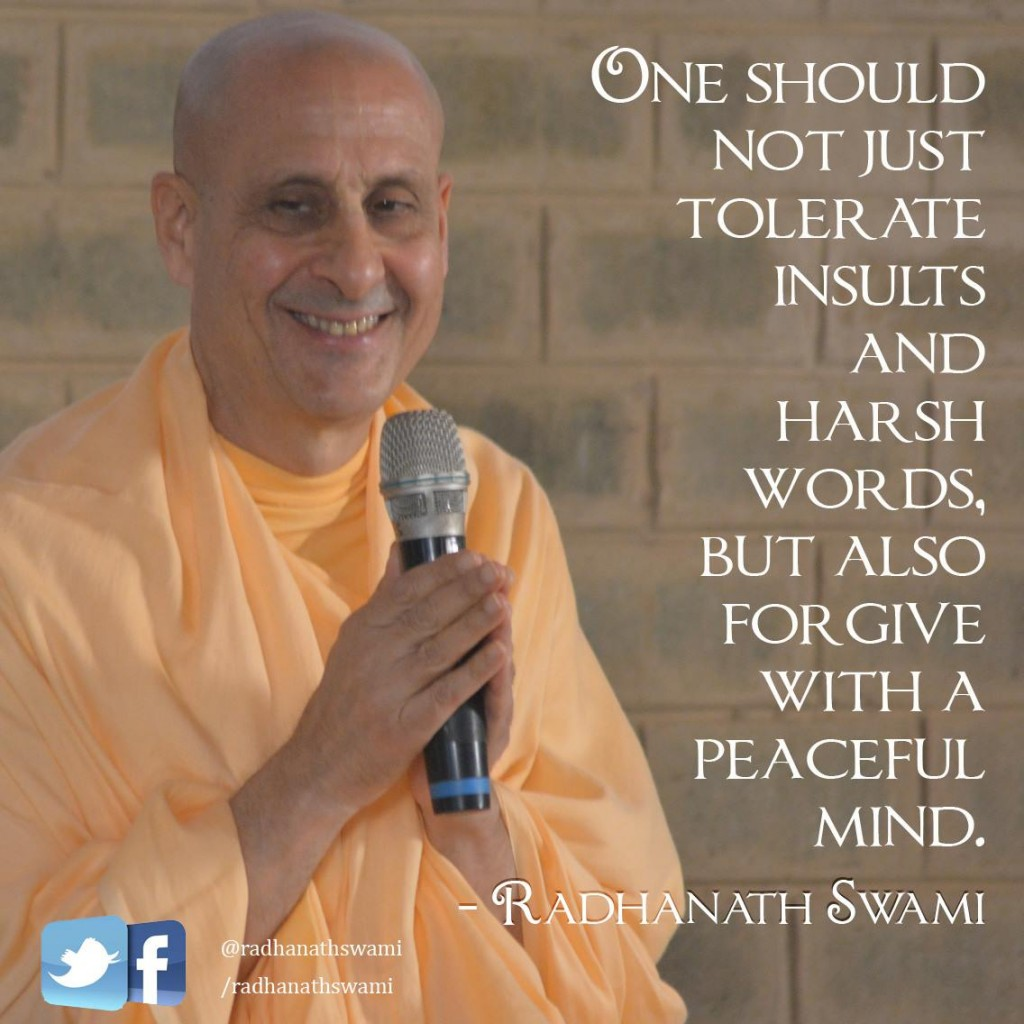 Radhanath Swami on forgiveness