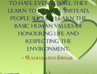 Radhanath Swami on respecting the environment