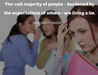 Radhanath Swami on Burden of expectation