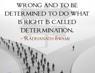 Radhanath Swami on Determination