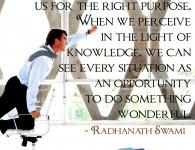 Radhanath Swami on stress is good