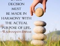 Radhanath Swami on decision