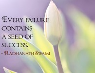 Radhanath Swami on seed of success